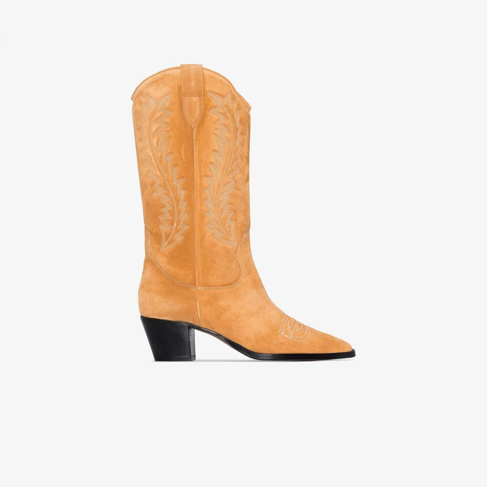 パリ テキサス Paris Texas レディース ブーツ カウボーイブーツ シューズ・靴【tan 55 embroidered suede cowboy boots】brown