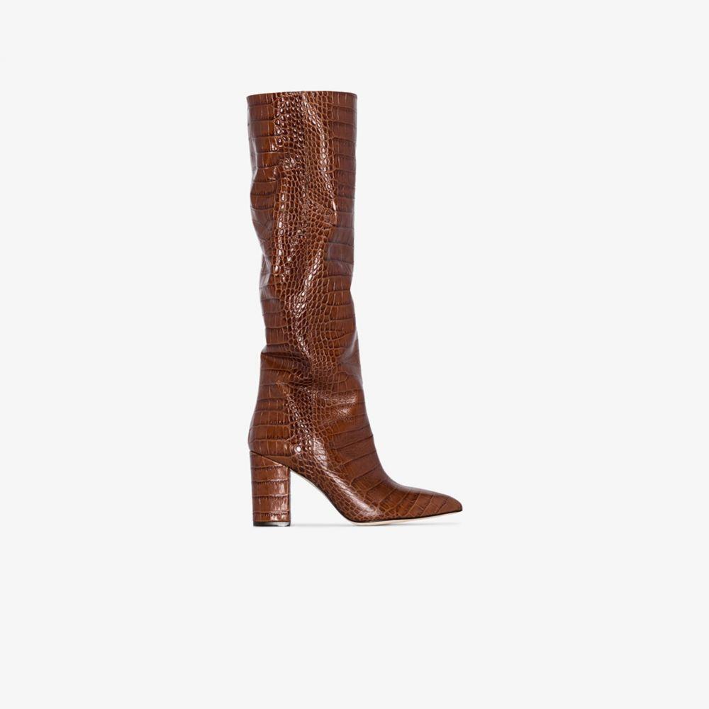 パリ テキサス Paris Texas レディース ブーツ シューズ・靴【brown 80 croc-effect leather boots】brown