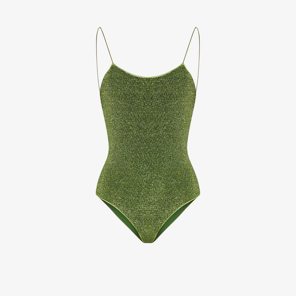 オセリー Oseree レディース ワンピース 水着・ビーチウェア【Lumiere metallic swimsuit】green