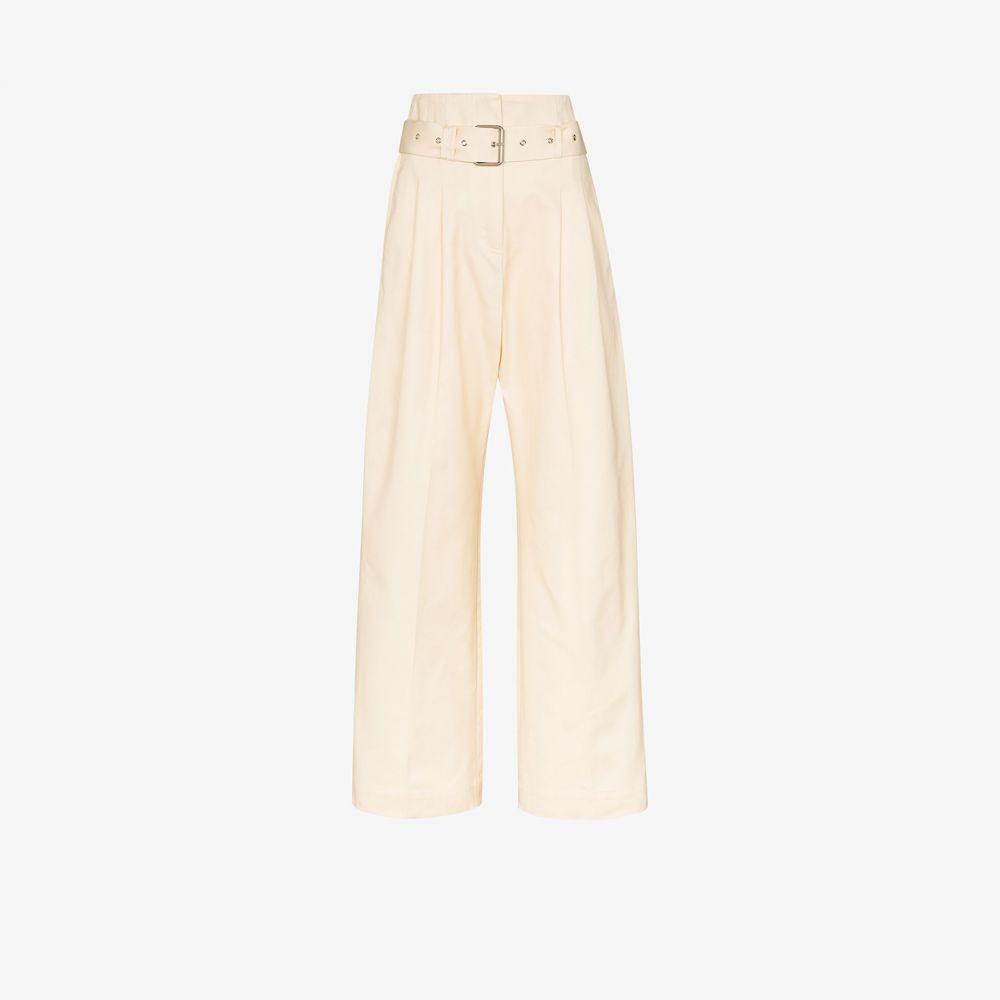プラン C Plan C レディース ボトムス・パンツ 【paper bag waist cotton trousers】neutrals