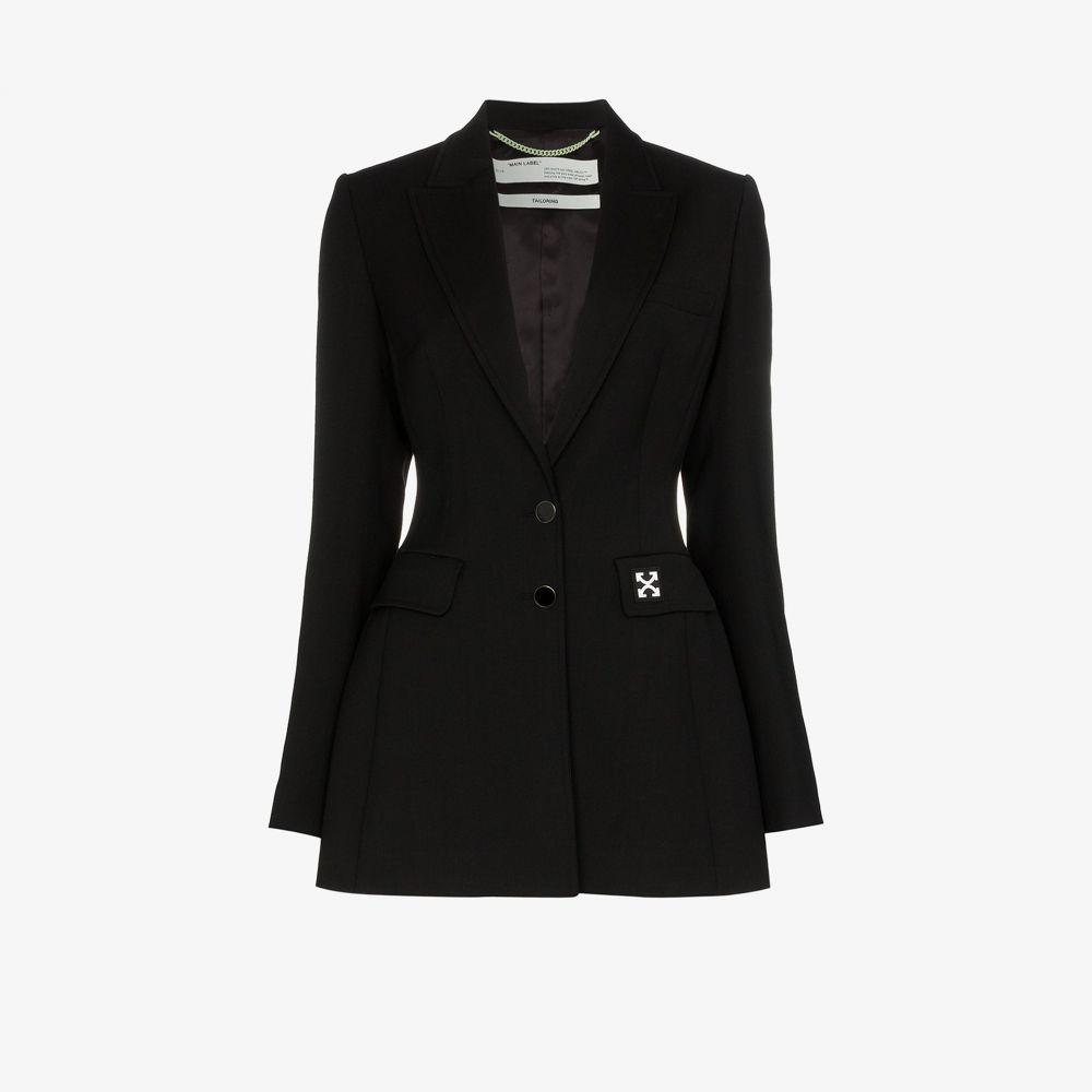 オフホワイト Off-White レディース スーツ・ジャケット アウター【single-breasted fitted blazer】black