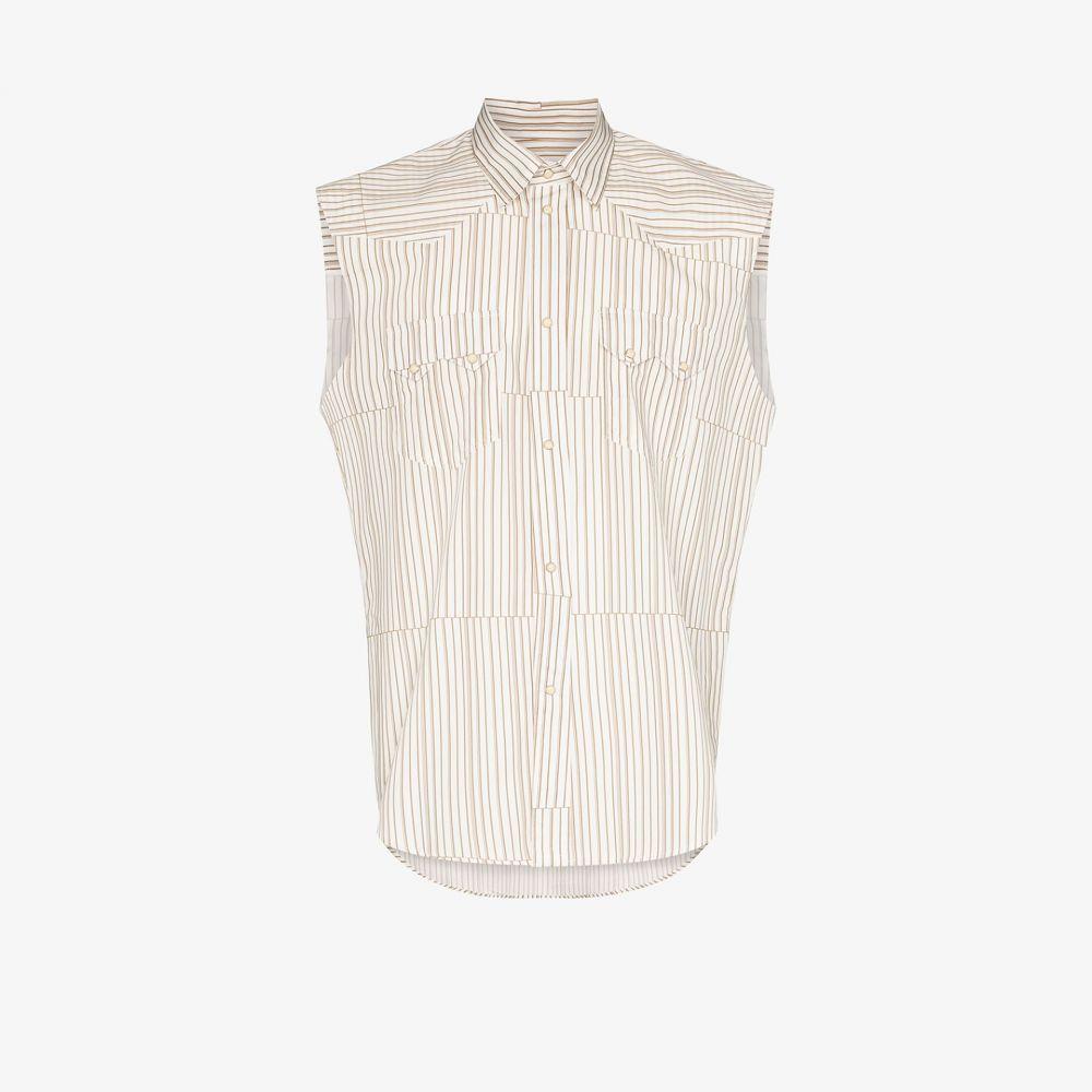 ピップス Phipps メンズ ノースリーブ トップス【rockhound striped sleeveless shirt】brown