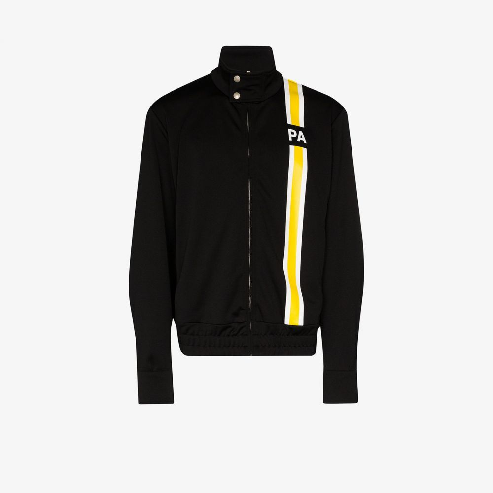パーム エンジェルス Palm Angels メンズ ジャージ アウター【monogram striped track jacket】black