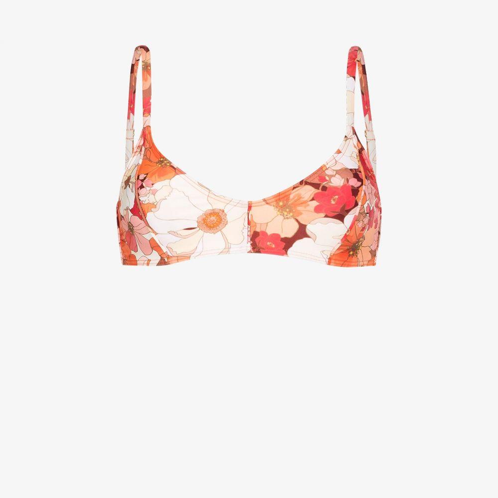 ポーニー Peony レディース トップのみ 水着・ビーチウェア【Wallflower floral bikini top】orange