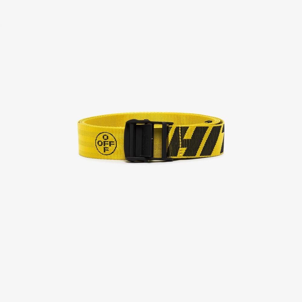 オフホワイト Off-White レディース ベルト 【yellow and black industrial logo belt】yellow