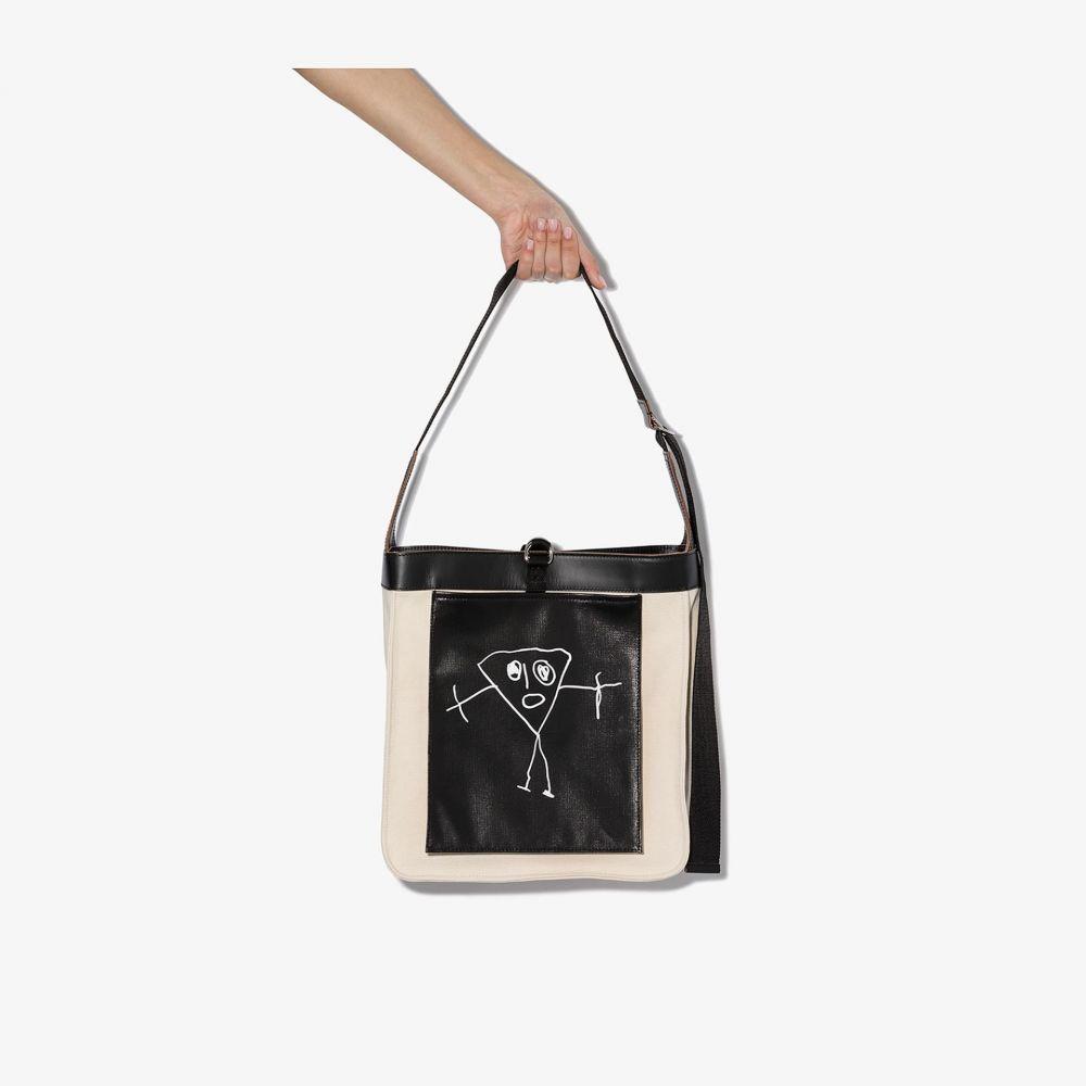 プラン C Plan C レディース ショルダーバッグ バッグ【neutral and black triangle drawing print shoulder bag】neutrals