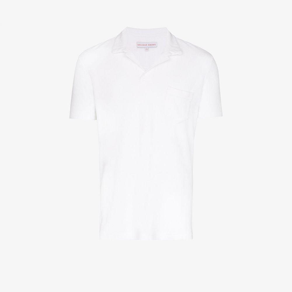 オールバー ブラウン Orlebar Brown メンズ ポロシャツ トップス【terry towelling cotton polo shirt】white