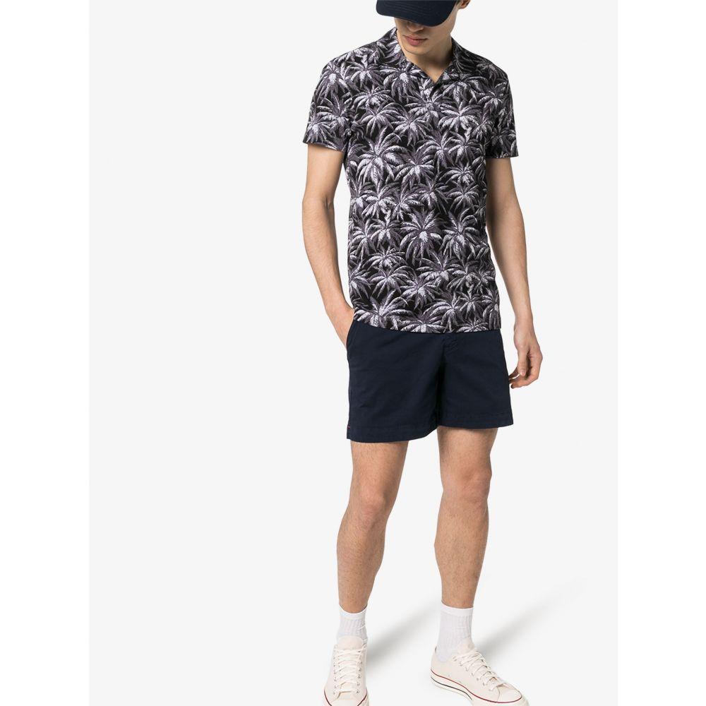 オールバー ブラウン Orlebar Brown メンズ ポロシャツ トップス【Felix X resort palm print polo shirt】grey