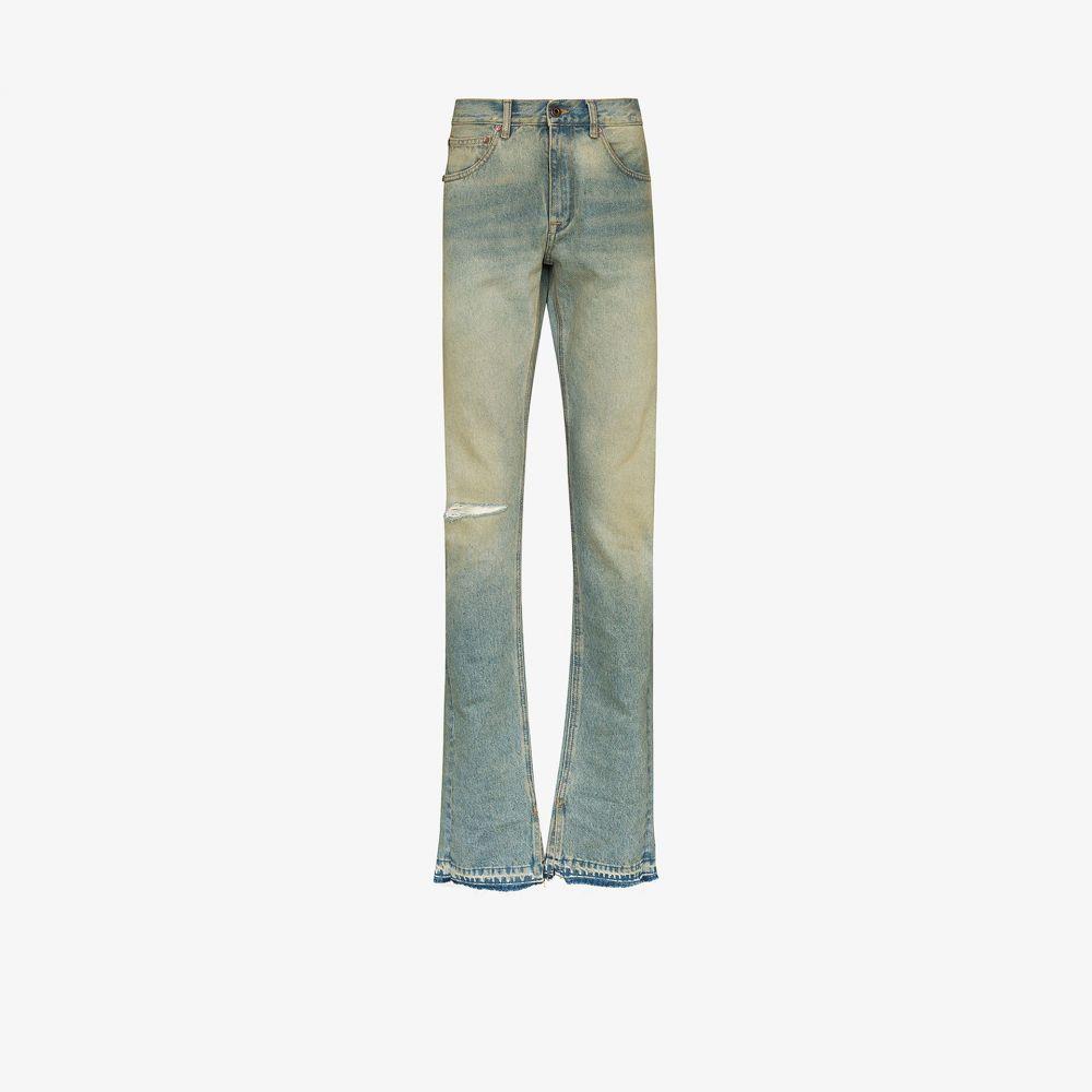 オフホワイト Off-White メンズ ジーンズ・デニム ボトムス・パンツ【split cuff slim leg jeans】blue