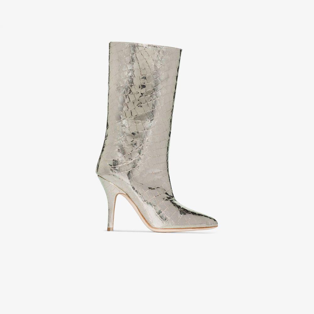 パリ テキサス Paris Texas レディース ブーツ シューズ・靴【Gold 90 mock Croc Leather Boots】gold