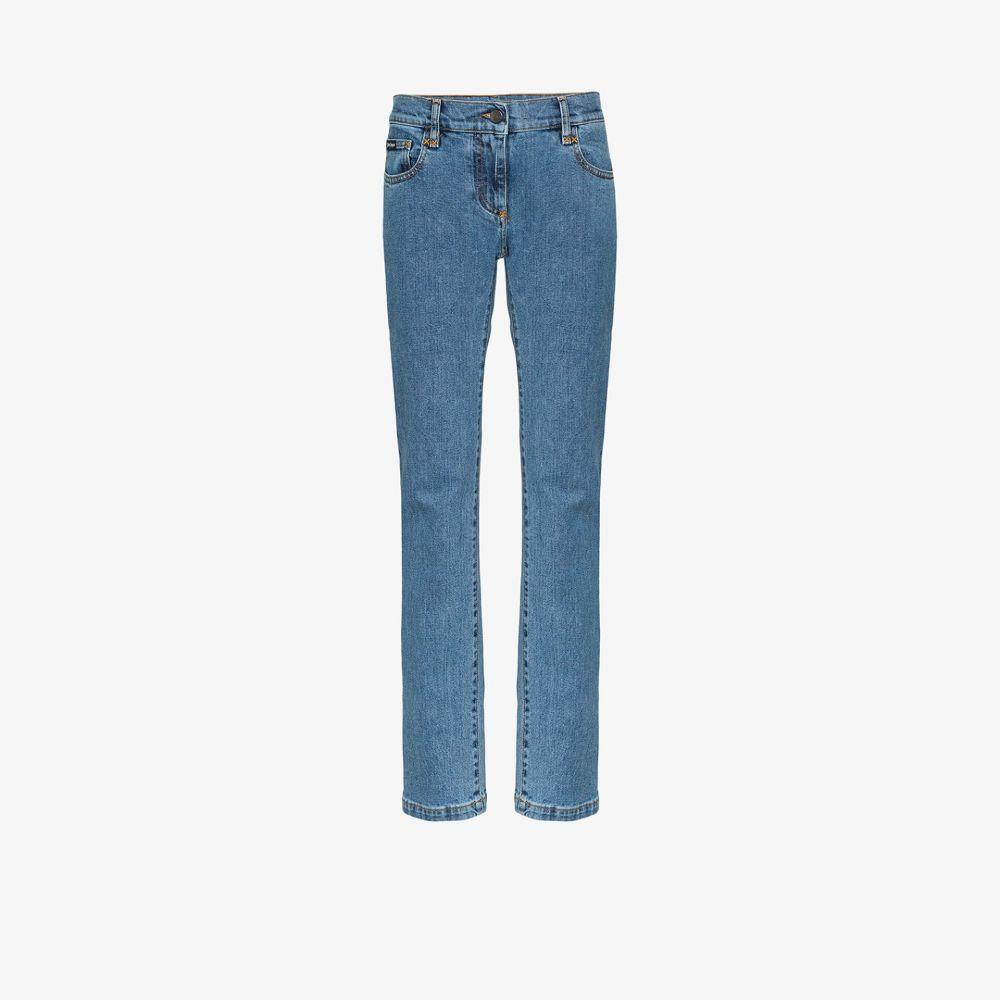 パーム エンジェルス Palm Angels レディース ジーンズ・デニム ボトムス・パンツ【arch logo print straight jeans】blue