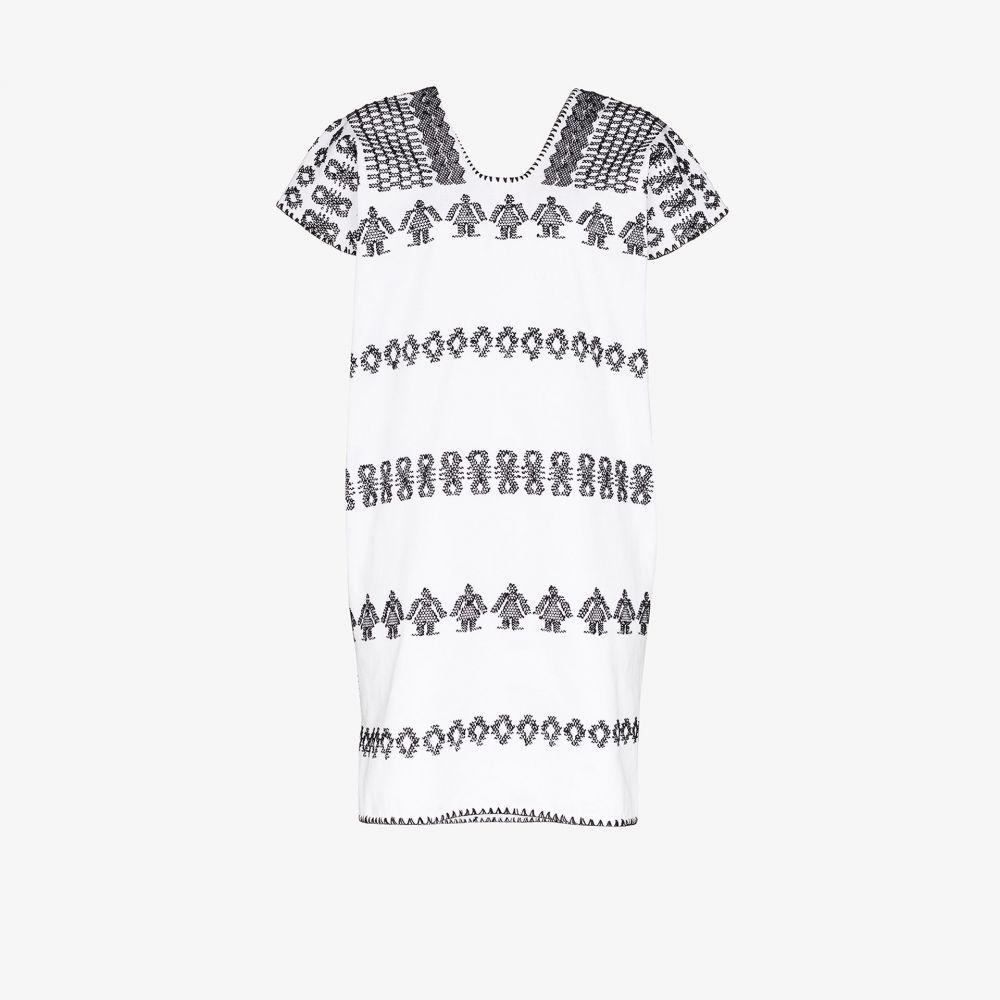 ピッパ ホルト Pippa Holt レディース ビーチウェア カフタン ワンピース・ドレス 水着・ビーチウェア【black embroidered kaftan dress】white