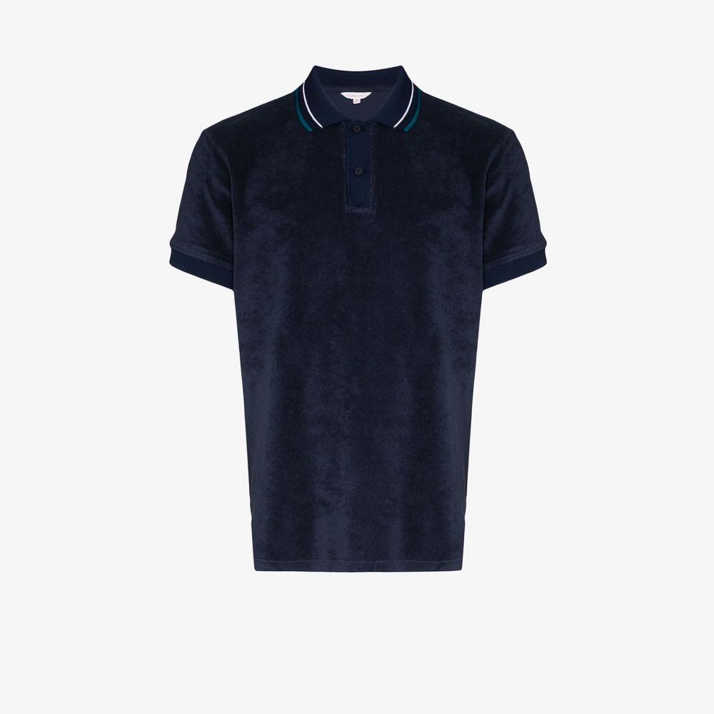 オールバー ブラウン Orlebar Brown メンズ ポロシャツ トップス【Sawyer cotton twill polo shirt】blue