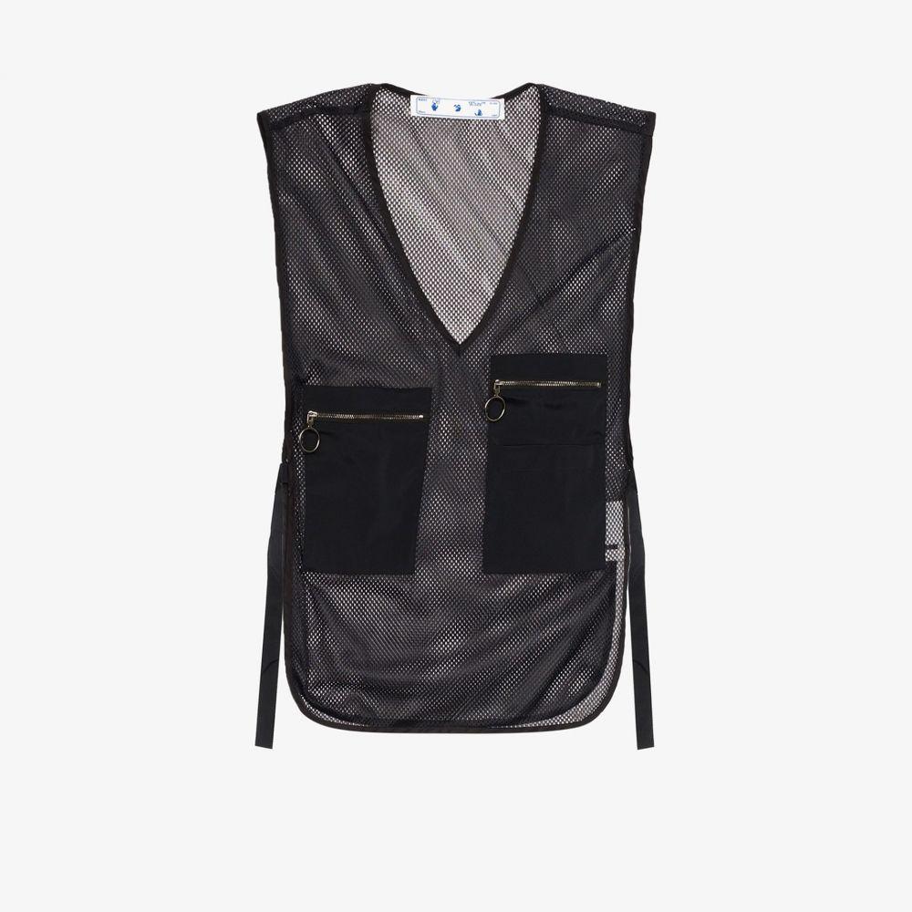 オフホワイト Off-White レディース ベスト・ジレ Vネック トップス【V-neck sleeveless utility vest】black