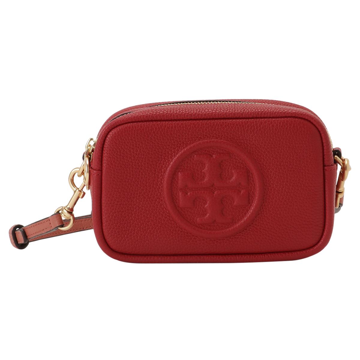 【即納】トリー バーチ Tory Burch レディース バッグ ショルダーバッグ【Perry Bombe Mini Bag】Red Apple エンボスロゴ