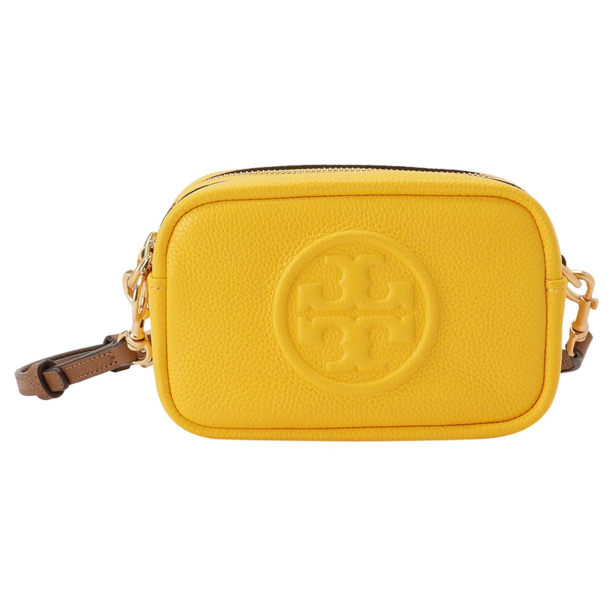 【即納】トリー バーチ Tory Burch レディース バッグ ショルダーバッグ【Perry Bombe Mini Bag】Lemon Drop エンボスロゴ