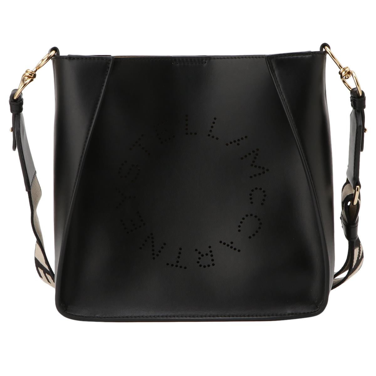 【即納】ステラ マッカートニー Stella McCartney レディース バッグ ショルダーバッグ【Mini Shoulder Bag 700073】BLACK クロスボディ ロゴ