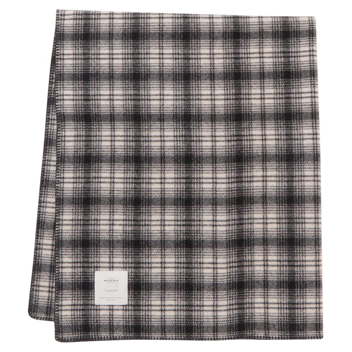 【即納】ウールリッチ WOOLRICH ユニセックス 雑貨【ROUGH RIDER ICONIC HUNT PLAID Blanket】WHITE ブランケット アウトドア