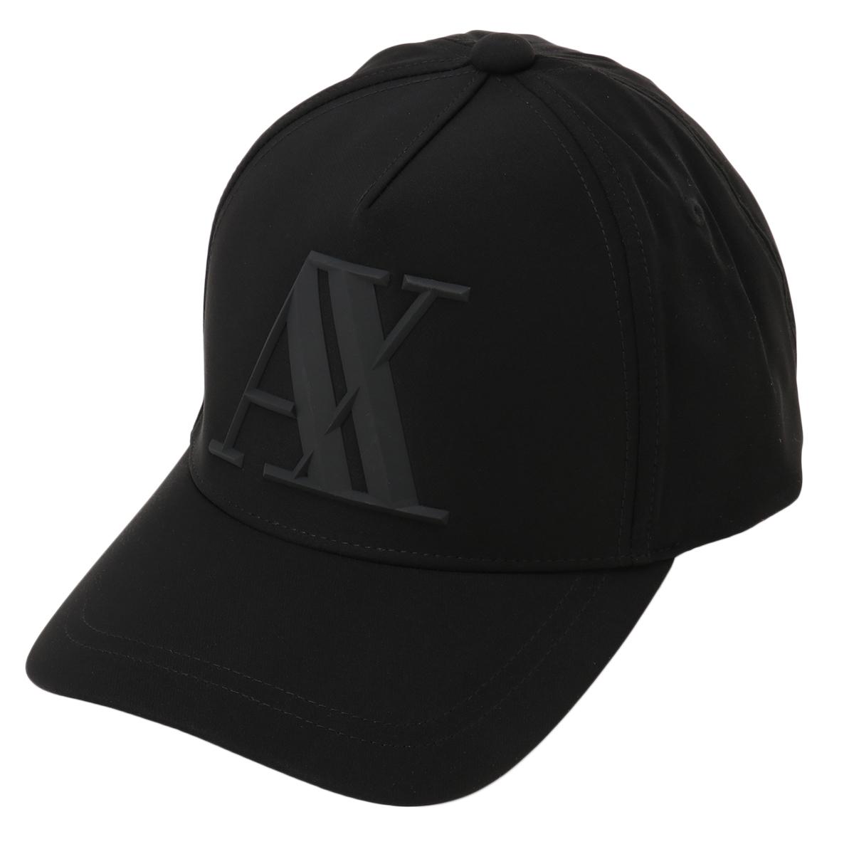 在庫品 送料無料 アルマーニ キャップ 即納 Armani Exchange メンズ 帽子 スナップバック 与え Logo Baseball サービス Cap ラバーロゴ Black ベースボールキャップ 954079