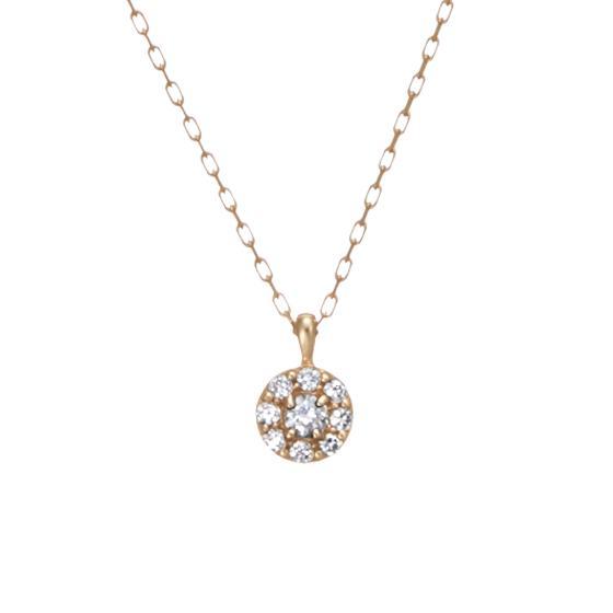 【festaria bijou SOPHIA フェスタリア ビジュソフィア】 K10ピンクゴールド ダイヤモンド ネックレス【送料無料】【プレゼント】