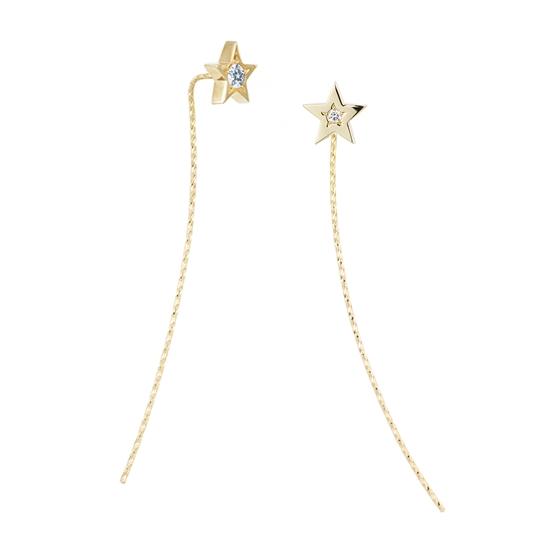 【30%オフ】【Wish upon a star】K18イエローゴールド ダイヤモンド ピアス【4月誕生石】【送料無料】【festaria bijou SOPHIA フェスタリア ビジュソフィア】