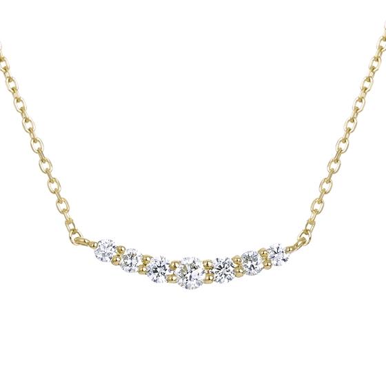 K18イエローゴールド ダイヤモンド ネックレス【送料無料】【festaria bijou SOPHIA フェスタリア ビジュソフィア】