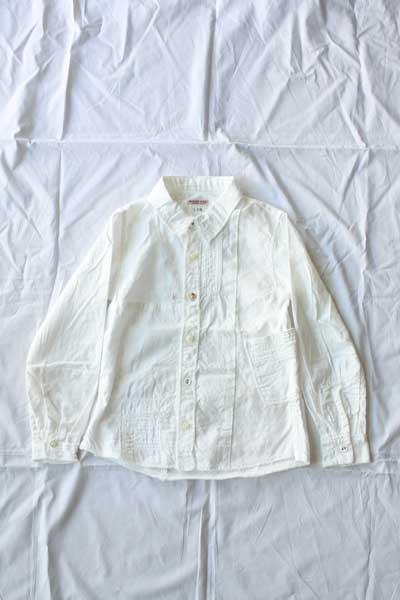 ■【送料無料】kapital キャピタル KID'S ホワイトパッチワーク カトマンズシャツ