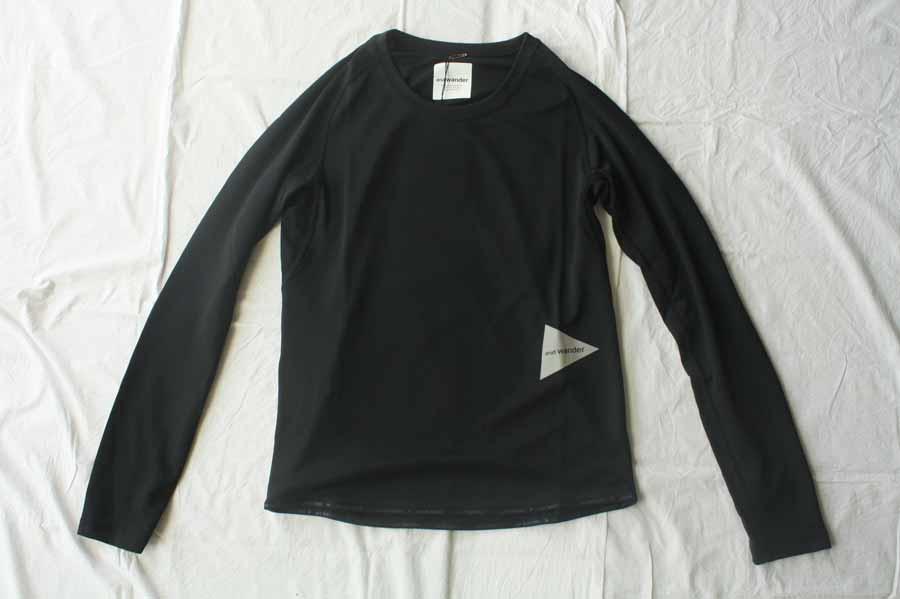 ■【送料無料】and wander アンドワンダー dry jersey raglan long sleeve T ラグランロングスリーブTシャツ