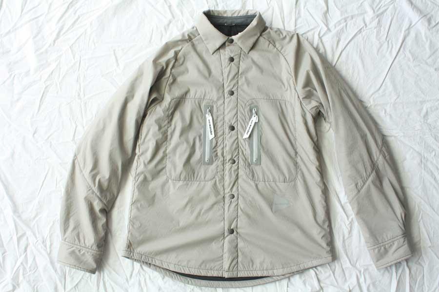 【送料無料】and wander アンドワンダー polartec alpha shirt