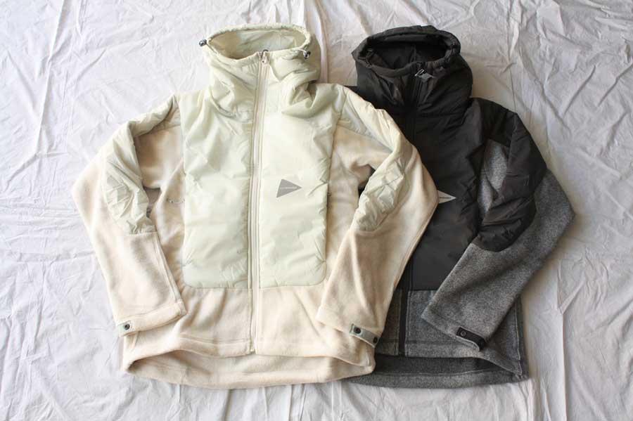 ?【送料無料】and wander アンドワンダー twill fleece jacket