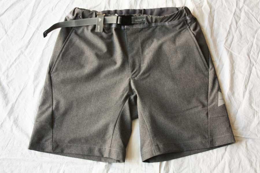【送料無料】and wander アンドワンダー 2way stretch short pants