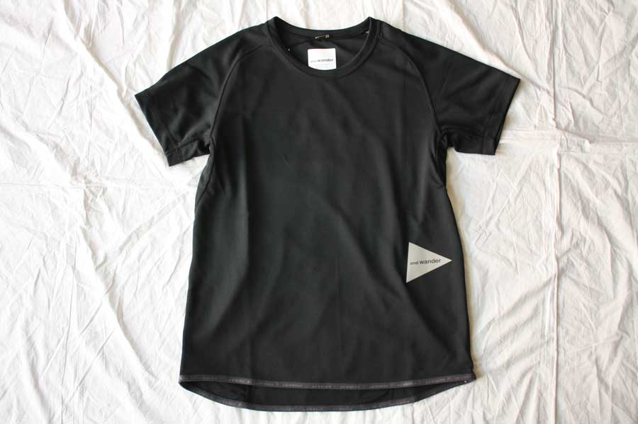 ■【送料無料】and wander アンドワンダー dry jersey raglan short sleeve T ラグランショートスリーブTシャツ