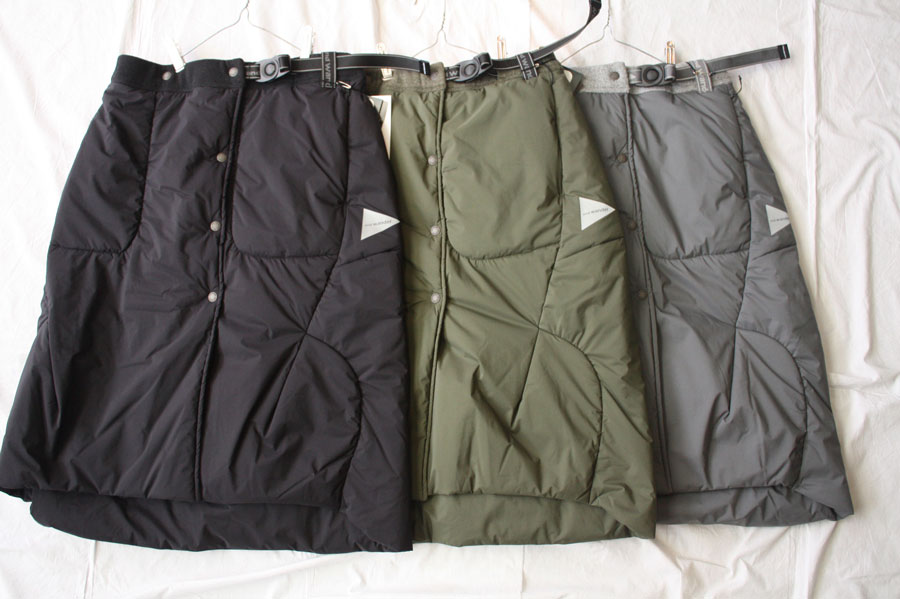 【送料無料】and wander アンドワンダー top fleece skirt フリーススカート