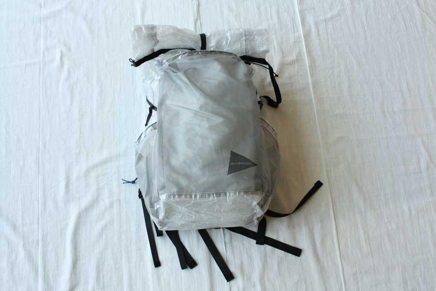 ■【送料無料】and wander アンドワンダー cuben fiber backpack キューベンファイバー バックパック