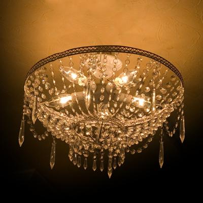 シャンデリア プリマヴェーラ 5灯 アンティーク調シャンデリアシーリングライト LED電球対応 天井低い 軽量