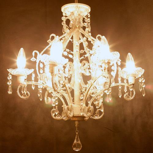 シャンデリア「 ジュエル」 アンティーク調塗装タイプ シャンデリア Jewel LED電球対応Feu-ss
