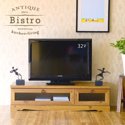 全品送料無料♪ テレビ台 ローボード テレビボード ガラス 木製 アンティーク テレビボード シンプル かわいい テレビ台 おしゃれ <Bistro/BT30-120L>
