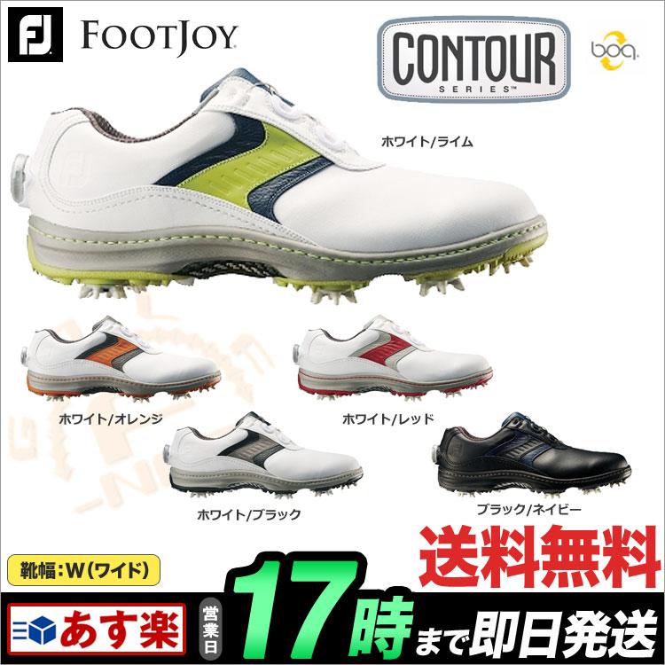日本正規品フットジョイ ゴルフシューズ FJ Contour Boa コンツアー ボア(ウィズ:W) 【ゴルフグッズ用品】