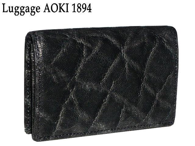 新生活 母の日 正規品 ポイント10倍 青木鞄 アオキ Luggage AOKI 1894 エレファント 名刺入れ African Elephant 2495 ゾウ ぞう 象 本皮 最高級品 aoki08