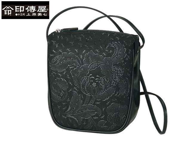 メンズ レディース 正規品 印伝 印傳屋 印伝 Carray キャレー ポシェット 和風 日本製 更紗花柄 7004 indn23