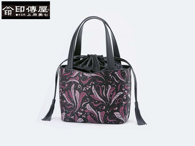 正規品 新生活 母の日  印伝 印傳屋 印伝 Frinoce フリノス 手提げ ハンドバッグ 和風 日本製 和柄 8707 indn23