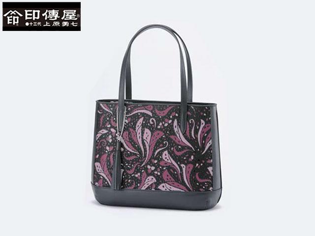 正規品 新生活 母の日  印伝 印傳屋 印伝 Frinoce フリノス 手提げ ハンドバッグ 和風 日本製 和柄 8709 indn23