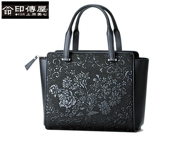 正規品 新生活 母の日  印伝 印傳屋 印伝 カトワ CATOWA ハンドバッグ 手提げ 和柄 8609 indn23