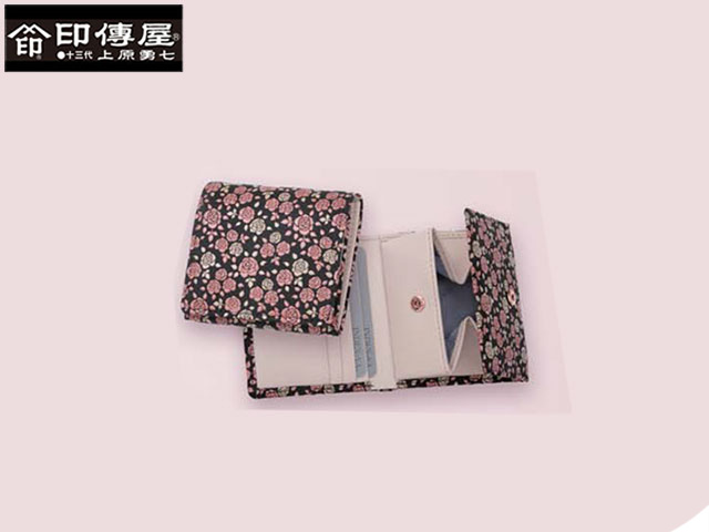 スーパーセール開催中! お得なクーポン発行中! 特典付 正規品 印伝 印傳屋 印伝 かぐわ KAGUWA 札入れ 二つ折り財布 和風 日本製 和柄 8403 indn23
