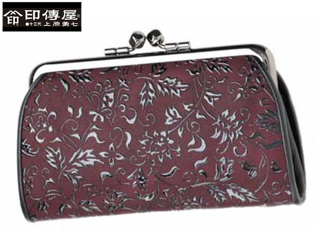 クリスマス 正規品 印伝 印傳屋 印伝 レザー コレクション がま口 和風 日本製 和柄 1501 indn23