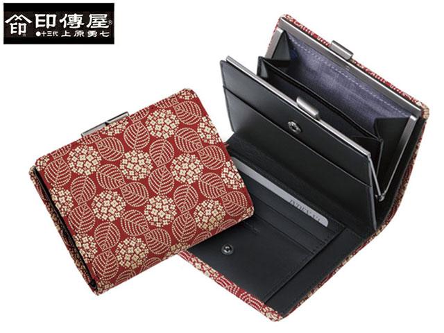 正規品 新生活 母の日  印伝 印傳屋 印伝 レザー コレクション がま札 和風 日本製 和柄 1604 indn23