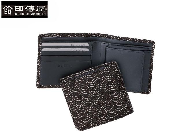 正規品 新生活 母の日  印伝 印傳屋 印伝 レザー コレクション 札入 二つ折り財布 和風 日本製 和柄 2008 indn23