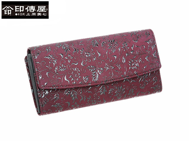 正規品 新生活 母の日  印伝 印傳屋 印伝 レザー コレクション 束入 長財布 和風 日本製 和柄 2310 indn23