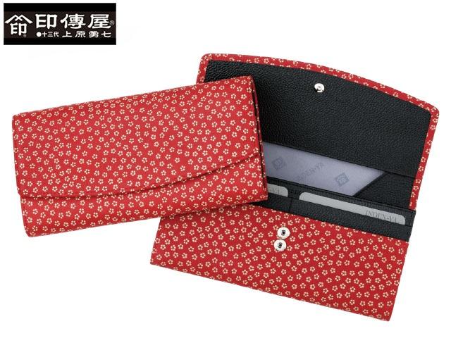 正規品 メンズ レディース  印伝 印傳屋 印伝 レザー コレクション 束入 長財布 和風 日本製 和柄 2314 indn23