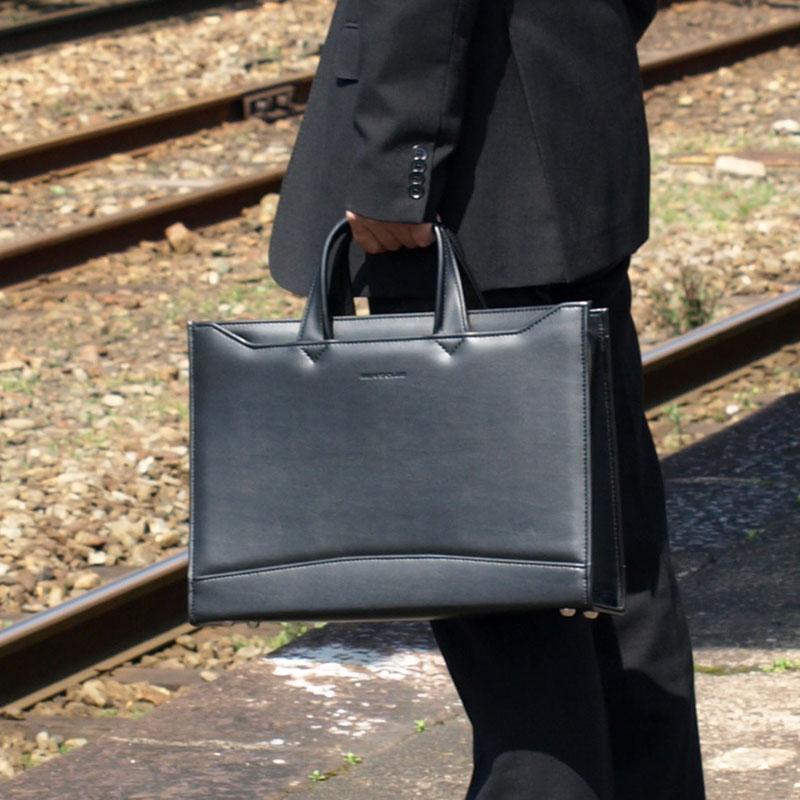 ビジネスバッグ メンズ A4 A4ファイル 2way ショルダー付き 軽量 ブリーフケース ビジネスバック 40cm #22158 日本製 豊岡製鞄 送料無料 ポイント10倍 hira39